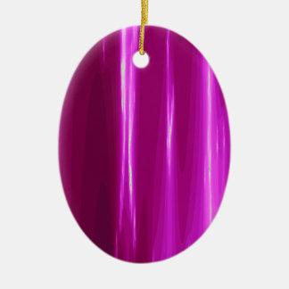 Hot Pink simple Design Ceramic Ornament