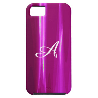 Hot Pink simple Design Monogram Case For The iPhone 5
