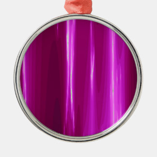 Hot Pink simple Design Silver-Colored Round Ornament