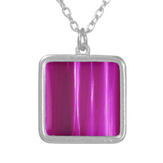 Hot Pink simple Design Silver Plated Necklace