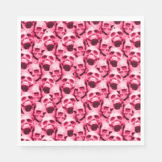 Hot Pink Skulls Paper Napkin