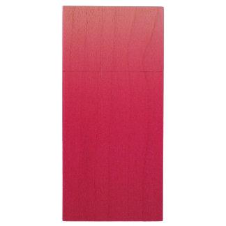 Hot Pink Sky Wood USB 3.0 Flash Drive