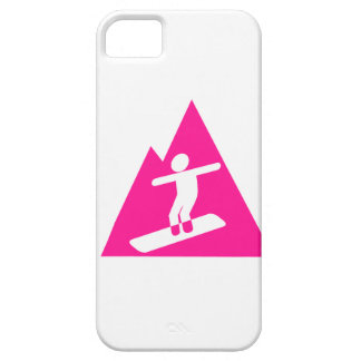 Hot Pink Snowboarding iPhone 5 Cover
