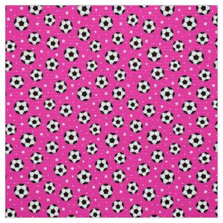 Hot pink soccer ball pattern fabric