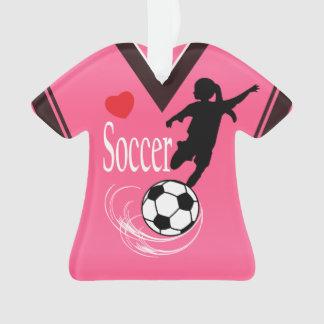 Hot Pink Soccer Ball Shirt Ornament
