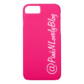 Hot Pink Social Media iPhone 7 Case