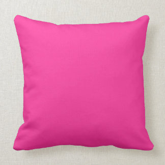 Hot Pink Solid Color Background Throw Pillow