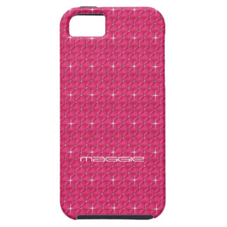 Hot Pink Sparkle & Bling Effect Cellphone Case