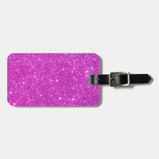 Hot Pink Sparkle Glittery CricketDiane Art Luggage Tag