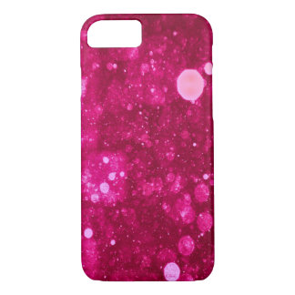 Hot Pink Sparkles iPhone 7 Case