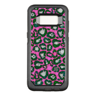 Hot Pink Spearmint Cheetah Abstract OtterBox Commuter Samsung Galaxy S8 Case