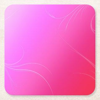 Hot Pink Square Paper Coaster
