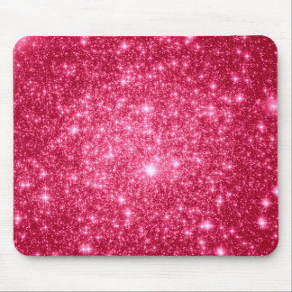 Hot Pink Stars Mouse Pad