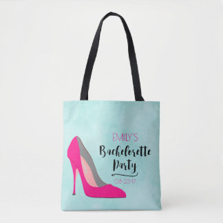 Hot Pink Stiletto High Heel  Bachelorette Party Tote Bag