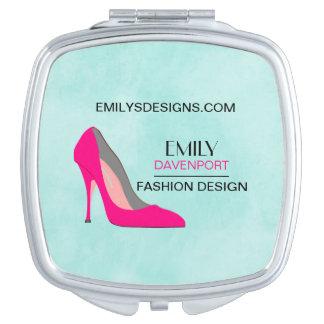 Hot Pink Stiletto High Heel Shoe Chic Business Vanity Mirrors