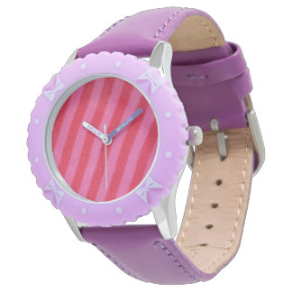 Hot Pink Stripe Watch