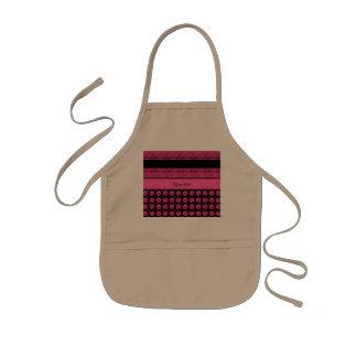 Hot Pink Stripes And Glitter Spots Kids Apron