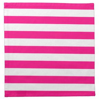 Hot Pink Stripes Pattern Napkin
