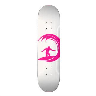 Hot Pink Surfing Skate Board Decks