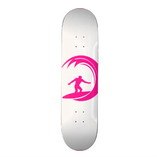 Hot Pink Surfing Skateboard