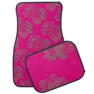 Hot Pink Swirling Car Mat Set