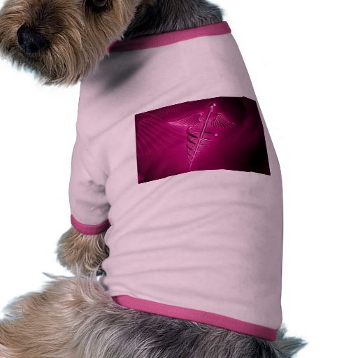 HOT PINK SYMBOL 3d science medical abstract health Doggie Shirt
