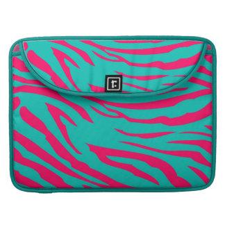Hot Pink Teal Zebra MacBook Sleeve Computer Case