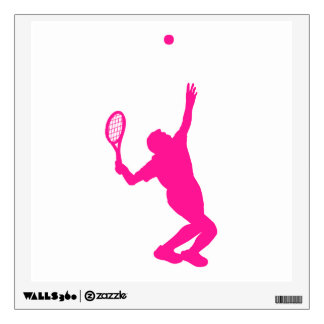 Hot Pink Tennis Wall Sticker