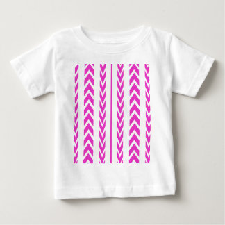 Hot Pink Tire Tread Baby T-Shirt