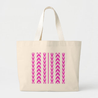 Hot Pink Tire Tread Large Tote Bag