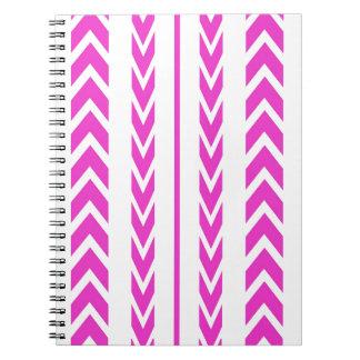 Hot Pink Tire Tread Notebook