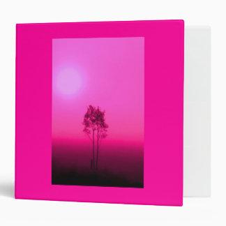 Hot Pink Trees Binder