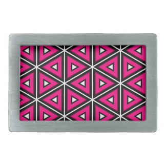 Hot pink triangles belt buckles