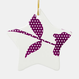 hot pink triangles ceramic ornament