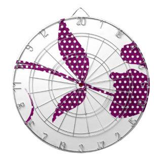 hot pink triangles dartboard