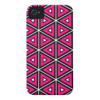 Hot pink triangles iPhone 4 Case-Mate cases