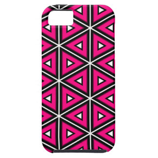 Hot pink triangles iPhone 5 covers