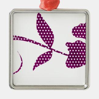 hot pink triangles metal ornament