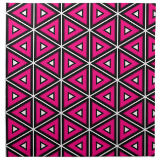 Hot pink triangles napkin