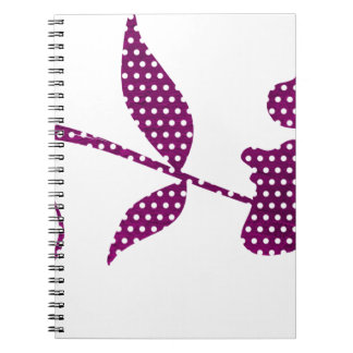 hot pink triangles notebook