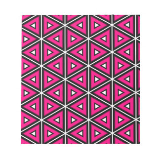 Hot pink triangles notepad