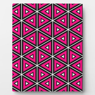 Hot pink triangles plaque