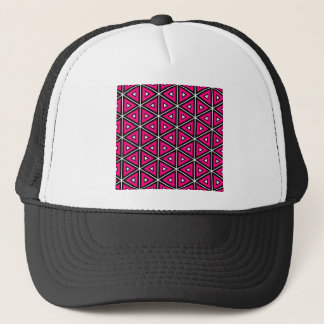 Hot pink triangles trucker hat
