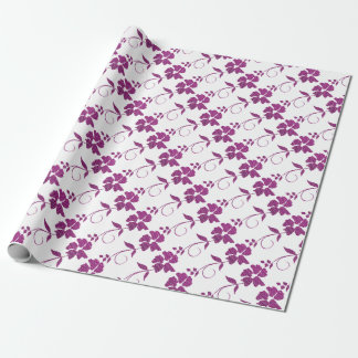 hot pink triangles wrapping paper
