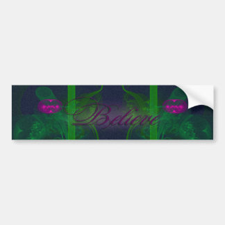 Hot Pink Tulip Faery Meeting Hall Abstract Art Bumper Sticker