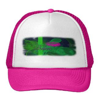 Hot Pink Tulip Faery Meeting Hall Abstract Art Trucker Hat