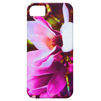 Hot pink tulip tree blossom iPhone 5 cases