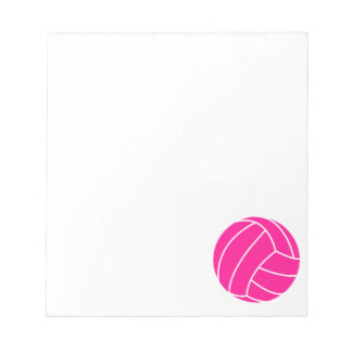 Hot Pink Volleyball Notepads