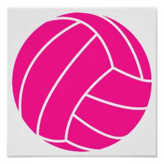 Hot Pink Volleyball Print