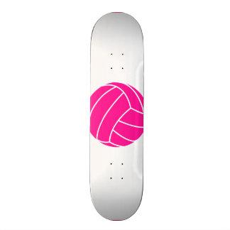 Hot Pink Volleyball Custom Skate Board